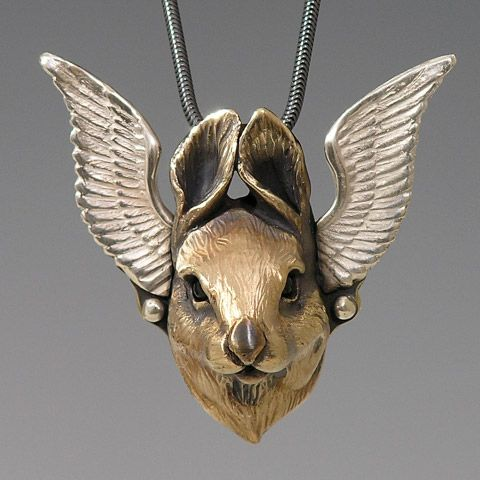 Flying Bunny by Brooke Stone Jewelry