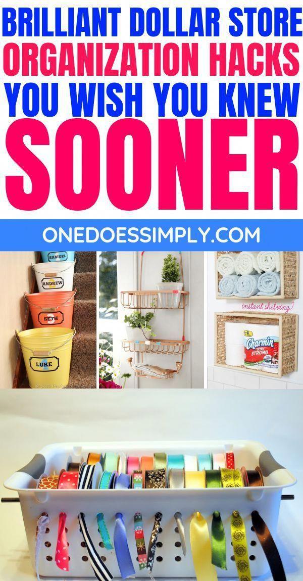 Easy Home Organization Ideas Using Dollar Store Finds || DARE TO TRY? #DOLLARSTORE #organization #diy #homeorganization