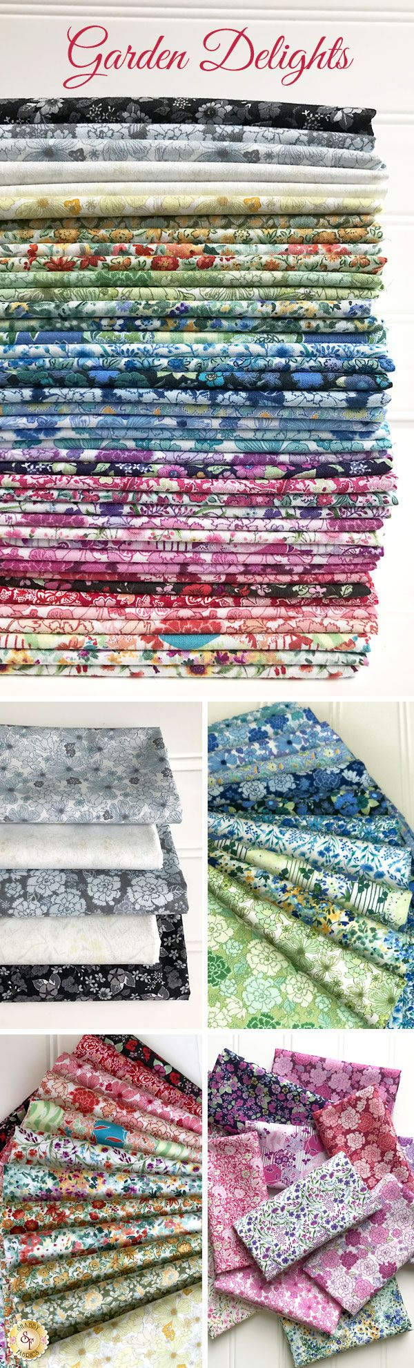 Garden Delights is a beautiful floral collection by In The Beginning Fabrics available at Shabby Fabrics!