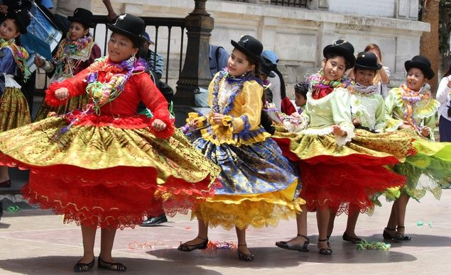 Dancers in Arica, Chile