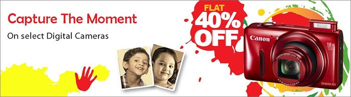 Flat 40% Discount on Cameras, Personal care and Kitchen appliances at Croma Retail  #Croma #CromaRetail #Holi #Discount #Camera #PersonalCare #Kitchen #Appliances #Shopping #india