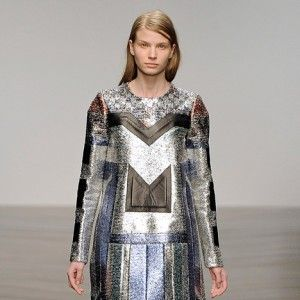 Totemic collection by Sadie Williams: Futuristic gowns formed from metallic neoprene