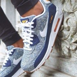 Nike Air Max 90 Liberty of London Dark Blue Crown $0.00