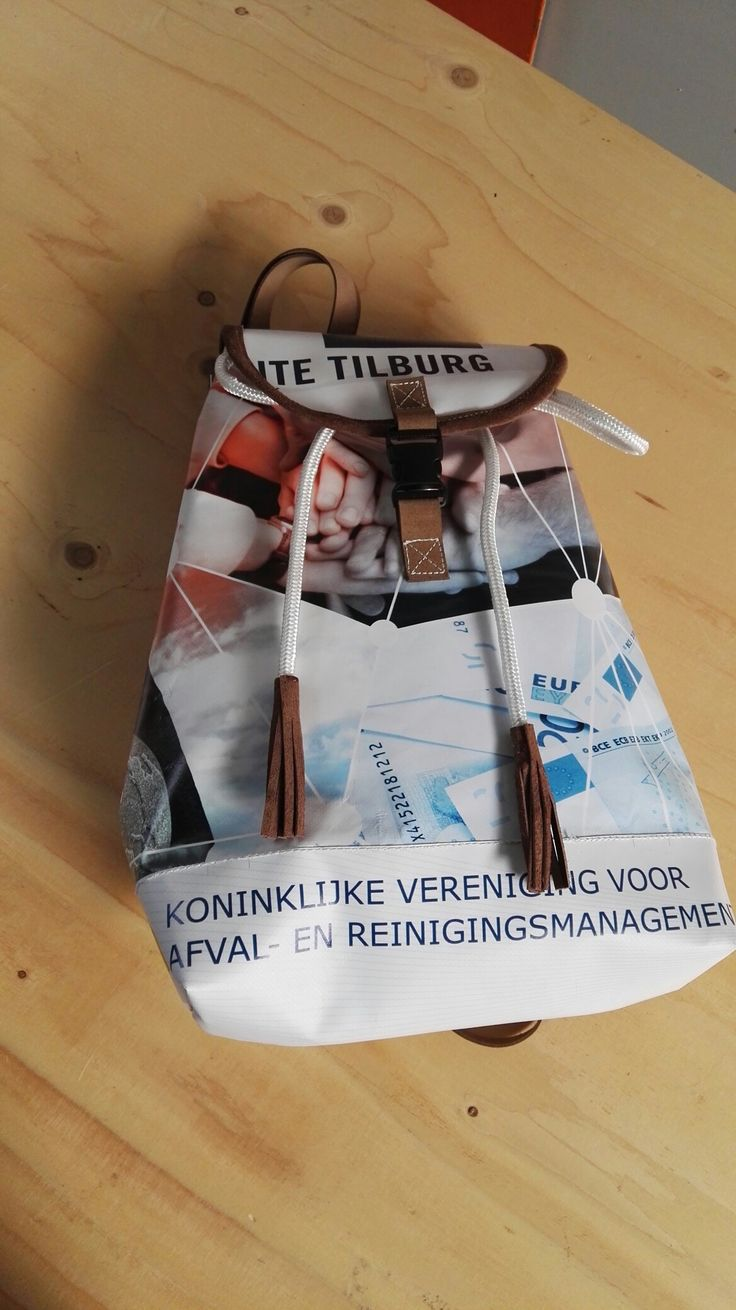 Backpack of.reused material  @Bagsbymija €69,95