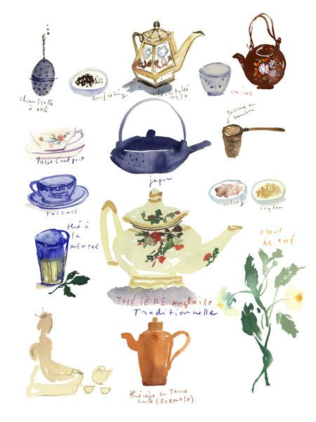 Tea poster by Lucile Prache