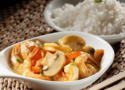 Receta de Camarones al curry en TQMA de Pronaca