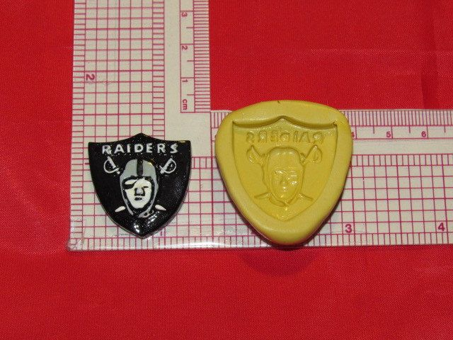 NFL Football Oakland Raiders Logo Silicone Push Mold 412 Chocolate Candy wax by LobsterTailMolds on Etsy