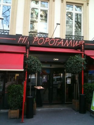 Hippopotamus.  Ordinary, but I will always remember that evening.  1 BD des capucines, 75002 Paris