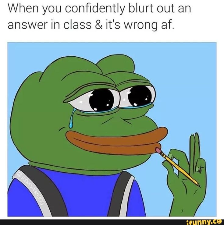 meme, pepe, confidently, blurt, wrong