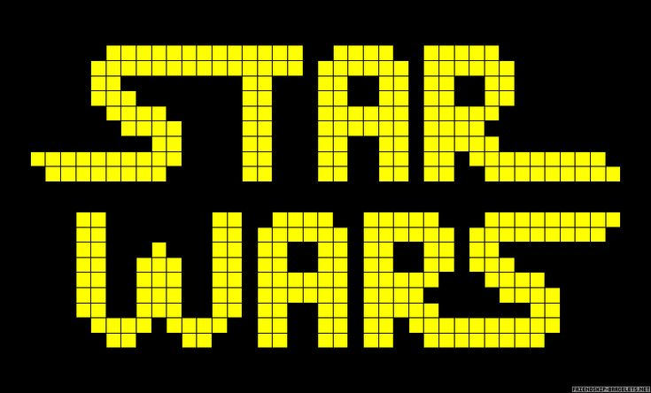 Star Wars logo perler bead pattern