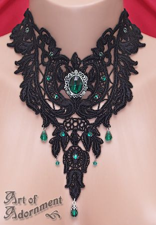 ... Lace Choker by ~Valerian on deviantART : valerian accessories gothic ...