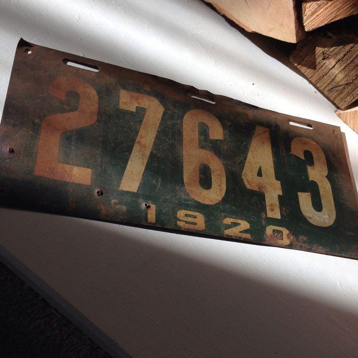 1920 NH License Plate $17, Waukewan Antiques, Meredith, NH