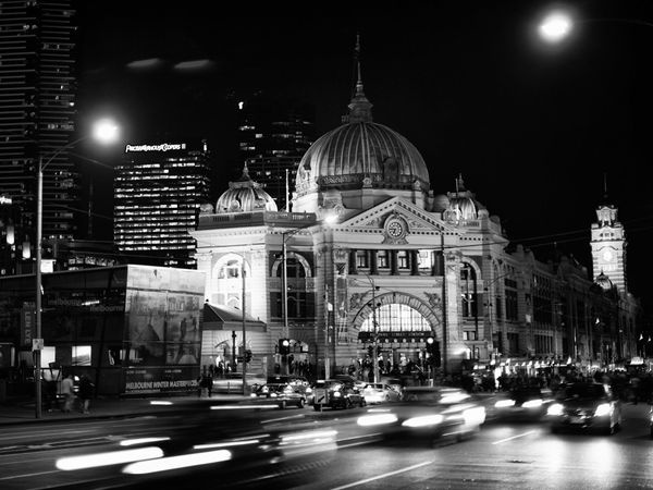 http://images.nationalgeographic.comMelbourne City Centre Photograph by Carmel McFayden, Your Shot I wanted to capture was the feel of the CBD, the bustling activity, the people, the cars, the new buildings, all against the backdrop of the old station. It's an anchor to the city. The original photo was beautiful in color; however in black and white it is something more monumental.