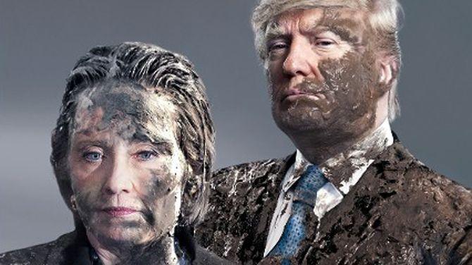 """Een symbolische keuze, want volgens Der Spiegel zijn de twee de hoofdrolspelers van wat herinnerd zal worden als """"de smerigste verkiezingscampagne in de Amerikaanse geschiedenis""""."""