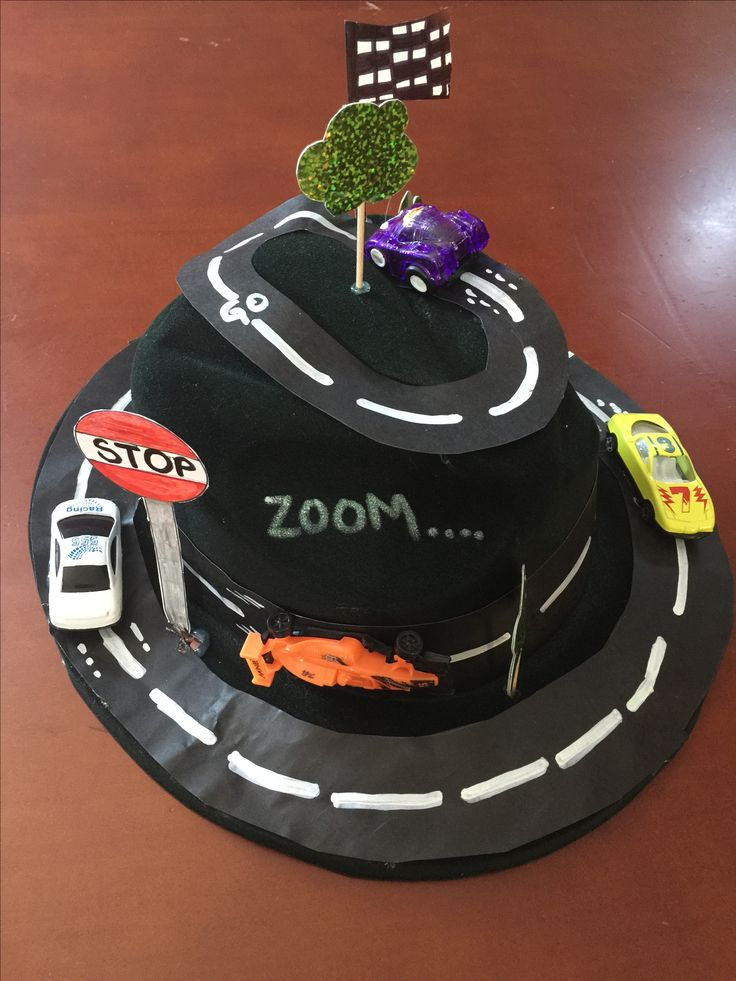 Crazy hat day at school - cars