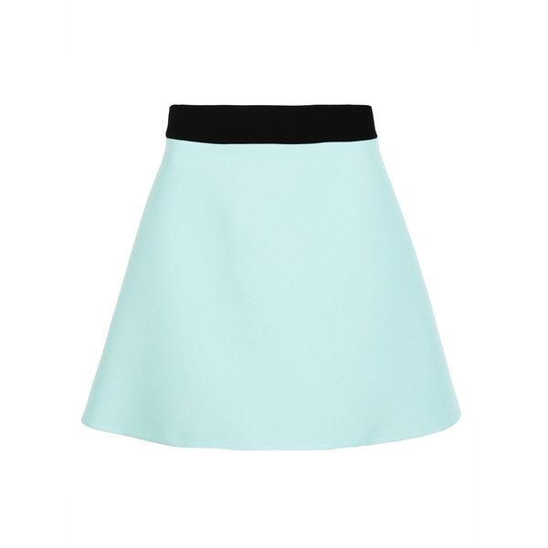 Fausto Puglisi Mini-Skirts ($290) ❤ liked on Polyvore featuring skirts, mini skirts, aqua green, blue skirt, short skirts, mini skirt, green mini skirt and green skirt