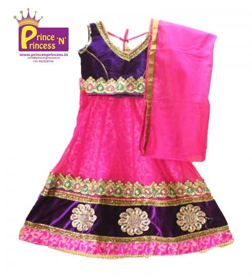 Kids Lehenga choli .. Size : 16-22 ( 1-5 years) Free shipping all over India  www.princenprincess.in
