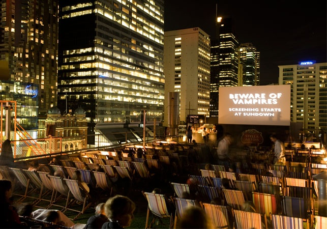 Go to the Rooftop Cinema
