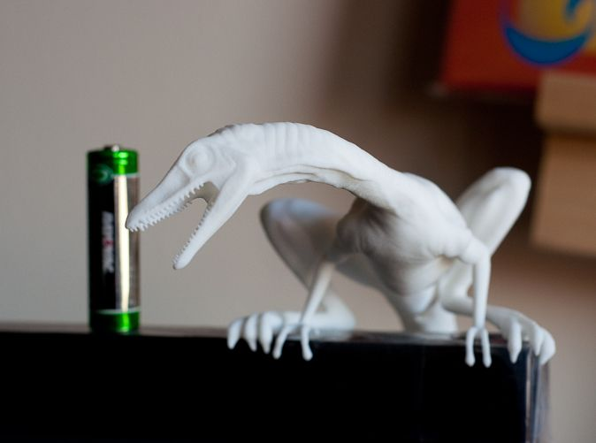 Check out Compy dinosaur desktop figurine by vfxguy on Shapeways and discover more 3D printed products in Sculptures / Figurines.