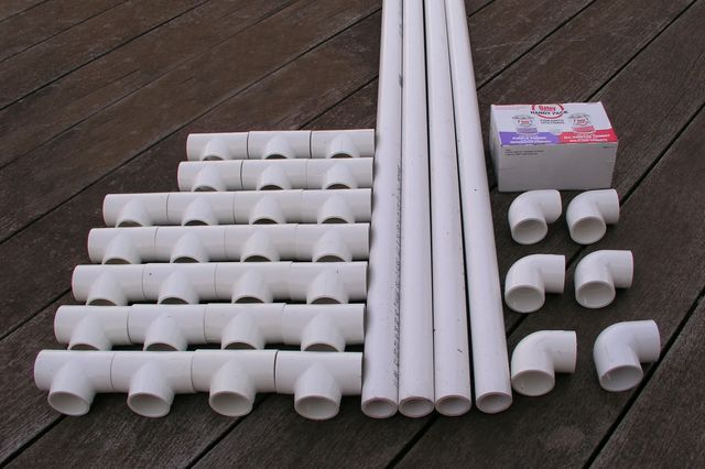 Materials for the bike rack.