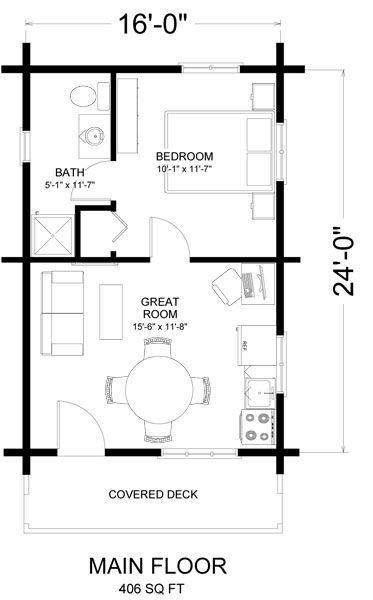 16x24 cabin with loft bedroom joy studio design gallery for Small cabin plans 16 x 24