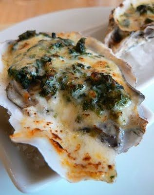3 Awesome oyster recipes including: Baked Oysters Rio Mar w/ Chorizo and Spinach, Drago's Oysters and Oyster dressing