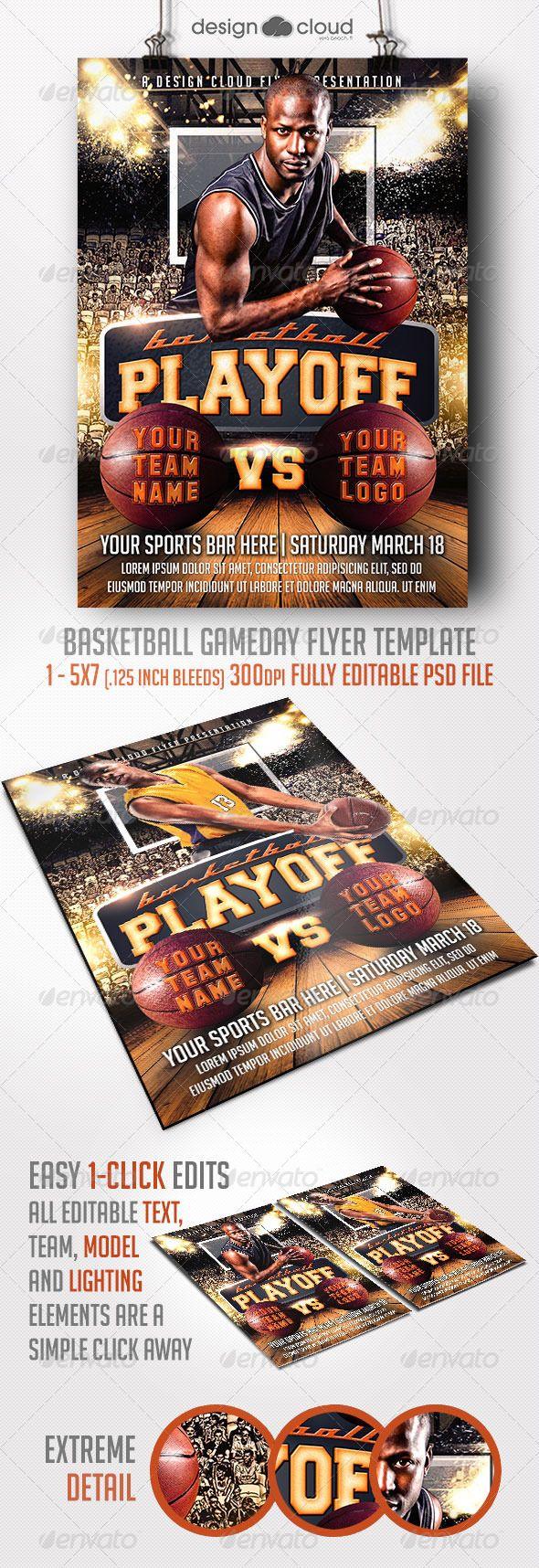 Basketball Game Day Flyer Template | Basketball games ...