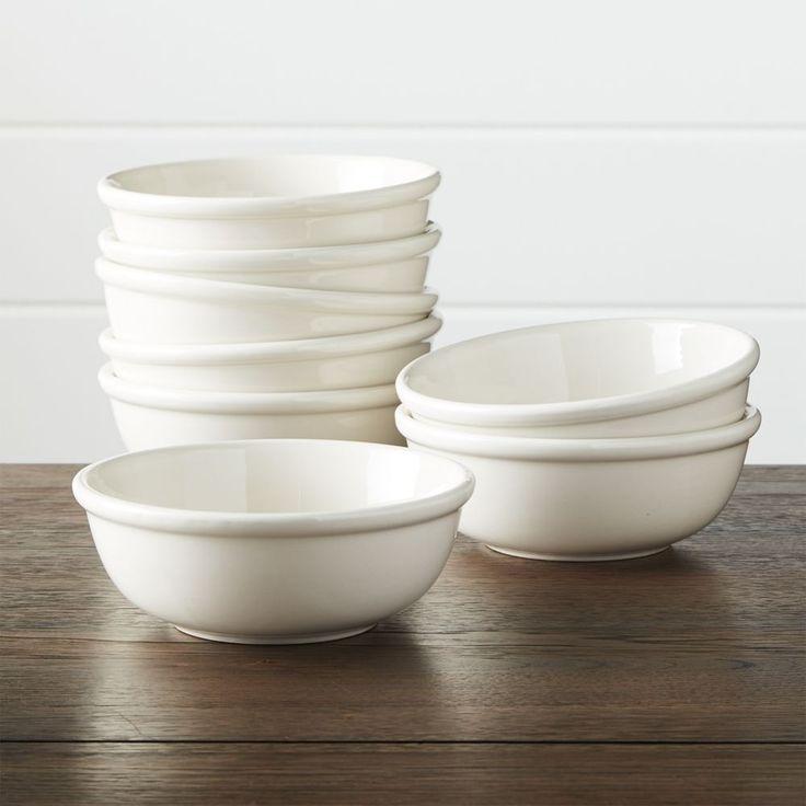 Set of 8 Dinette Cereal Bowls - Crate and Barrel