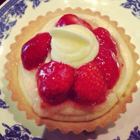 Creme Patissiere Strawberry tartlet