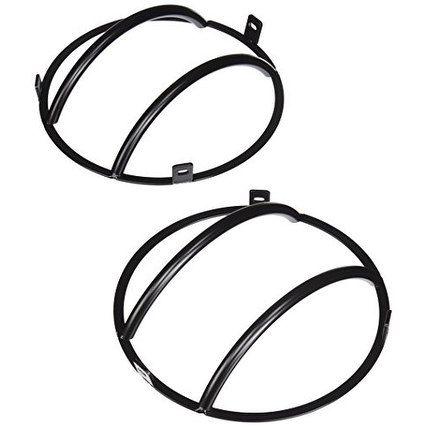 Smittybilt 5660 Euro Black Headlight Cover - 2 Piece