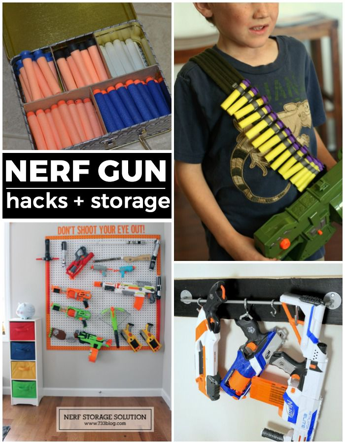 So many awesome Nerf gun ideas - storage and hacks!