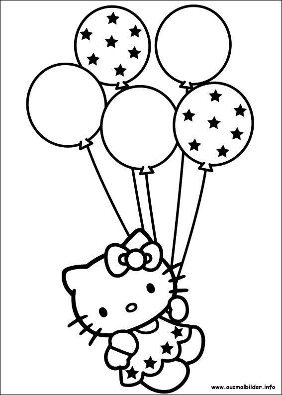 Hello Kitty malvorlagen  malen  Pinterest