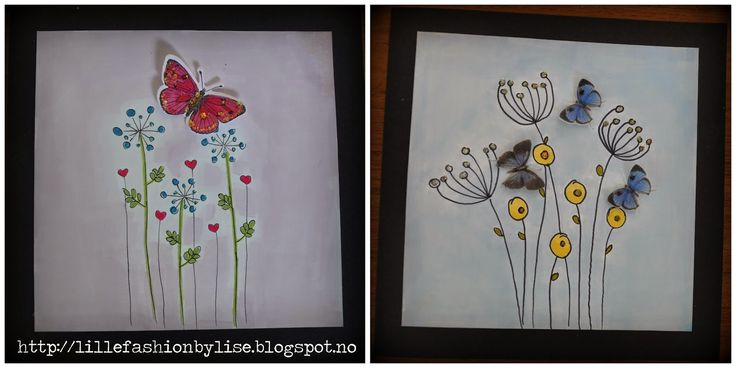 butterflycard lillefashion.by.lise