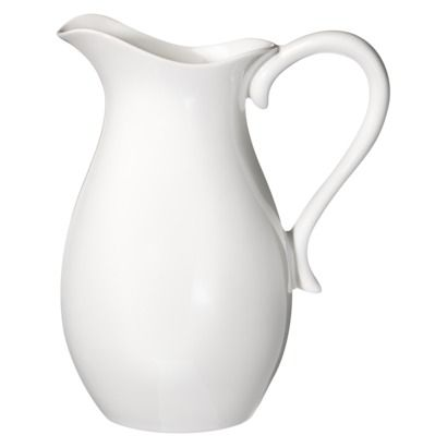$13.99 Threshold Porcelain Pitcher - White from Target (put wooden spoons in next to stove or use as a pitcher)