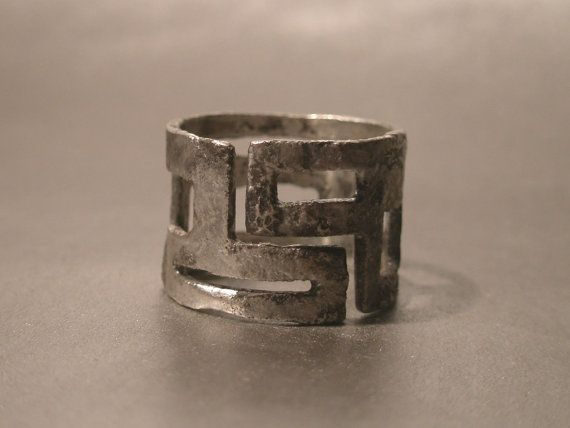 THE MAZE  sterling silver industrial ring by SILVERSTONEbyRenata