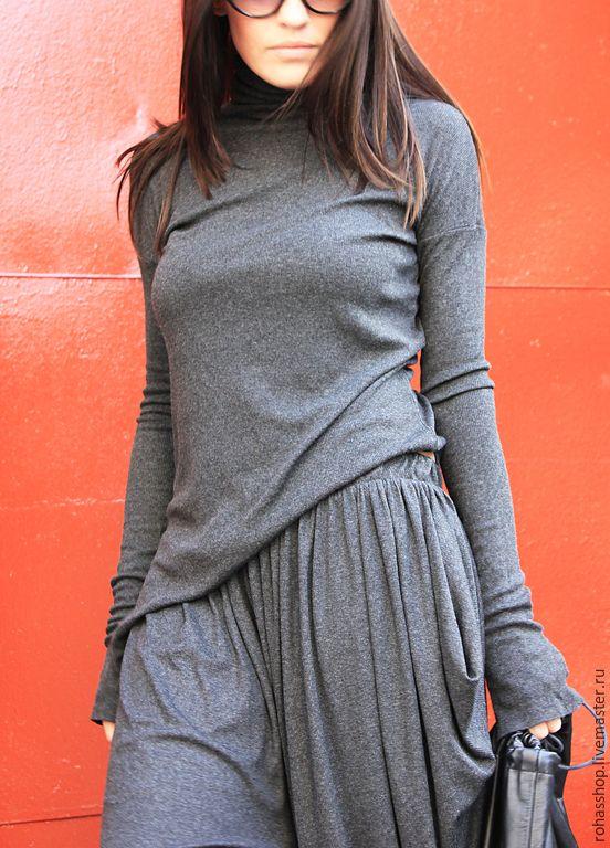 Купить Брюки Grey - темно-серый, брюки, брюки женские, свободные брюки, серые брюки
