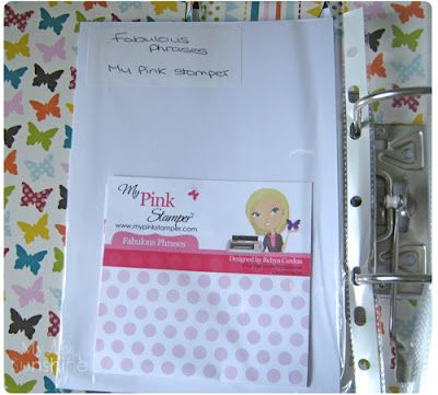 Craft Room Organisation - Stamp Storage