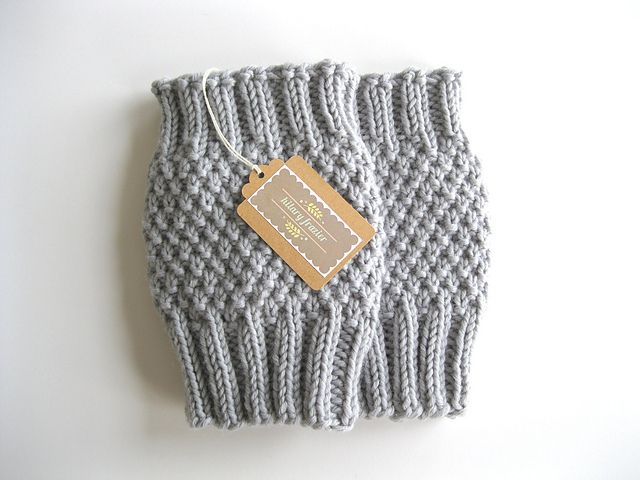 Knitted Boot Cuff Free Patterns : Moss Stitch Boot Cuff pattern by Hilary Frazier Moss stitch, Ravelry and Be...