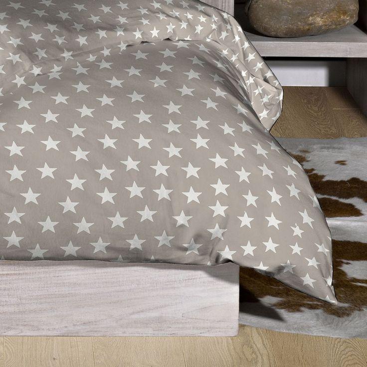 Stern Bettwäsche Stars grau online kaufen
