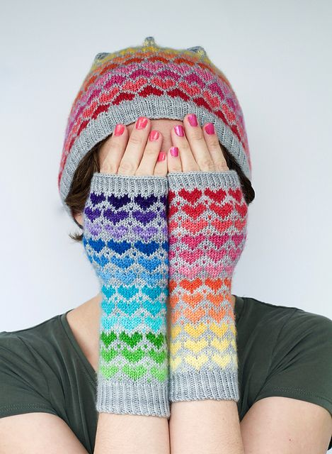 134 best knitting socks gloves mittens images on pinterest my rainbow heart pattern by stephanie lotven fandeluxe Choice Image