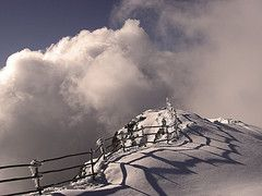 Falakro mountain at Drama. (Periklis Ripis) Tags: trip travel winter vacation sky sun white mountain snow black ski sepia landscape shadows view january greece drama falakro glouds ripis