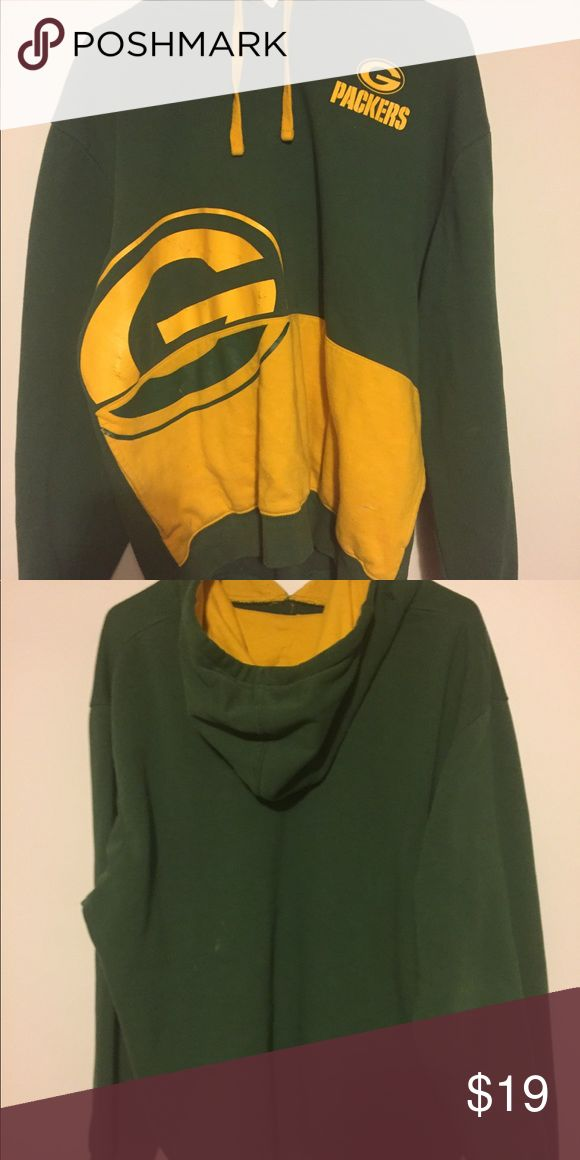 Green Bay Packers Hoodie Size XL. Majestic Shirts Sweatshirts & Hoodies