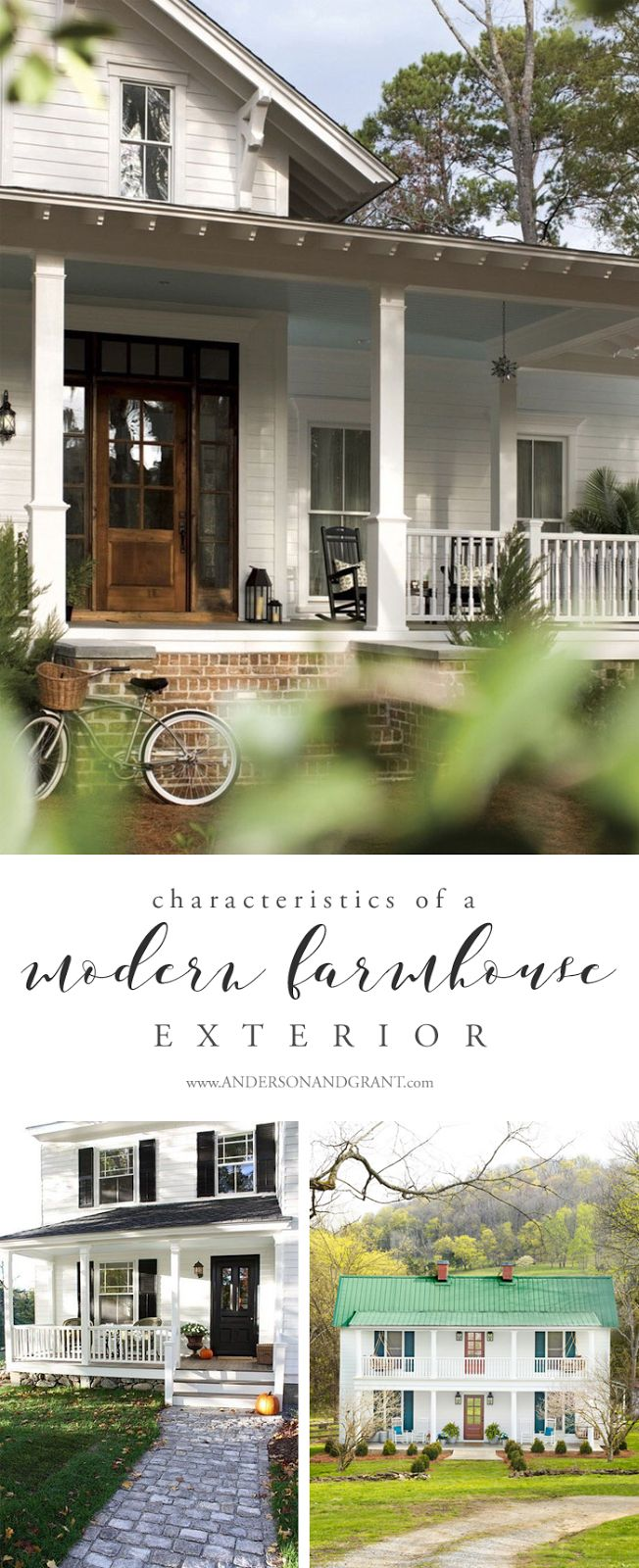 Characteristics of a modern farmhouse exterior modern for Farmhouse interior design characteristics