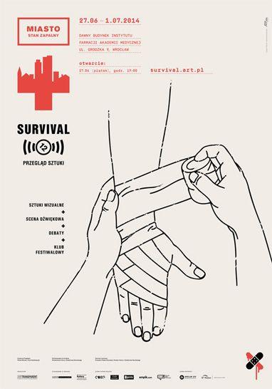 Przegląd Sztuki #Survival / Survival Art Review to sztuka w przestrzeni publicznej, poza tradycyjnymi instytucjami wystawienniczymi. Od 27 czewca do 1 lipca 2014 w dawnym budynku Instytutu Farmacji Akademii Medycznej #Wroclaw