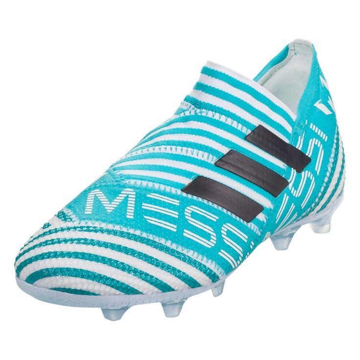 d6e1613bb57 adidas Nemeziz Messi 17+ 360Agility FG Junior Kids Soccer Cleats White Legend  Ink Energy Blue-4.5
