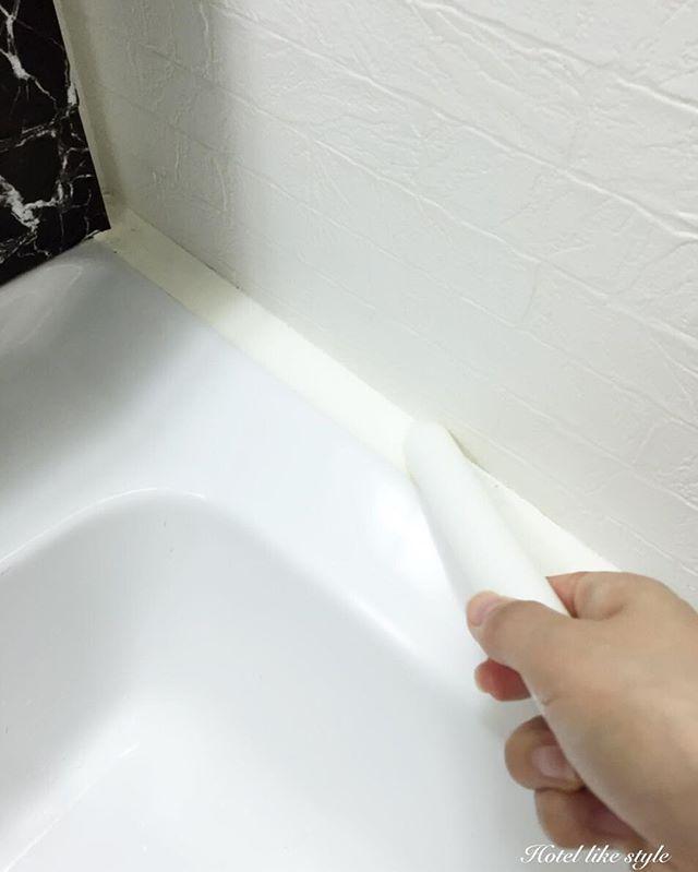2016 08 14 連投すみません 先日ブログには載せたのですが 先日お風呂で御線香を燃やしてカビ予防をしていたtvで ロウソクをコーキングに塗ると汚れ防止 カビ予防にいいと言うのもやっていたので 洗面台のコーキングにも塗ってみました コーキングって一度