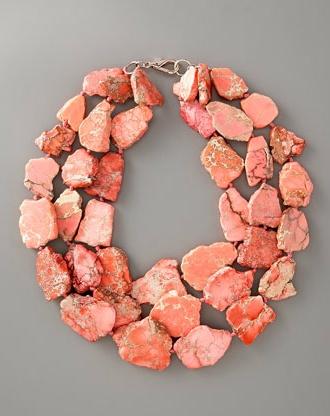 Necklace |  Nest Designs.  Pink Jasper