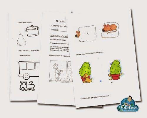 La Eduteca: RECURSOS INFANTIL | Pruebas de evaluación inicial de Ed. Infantil (4 años)
