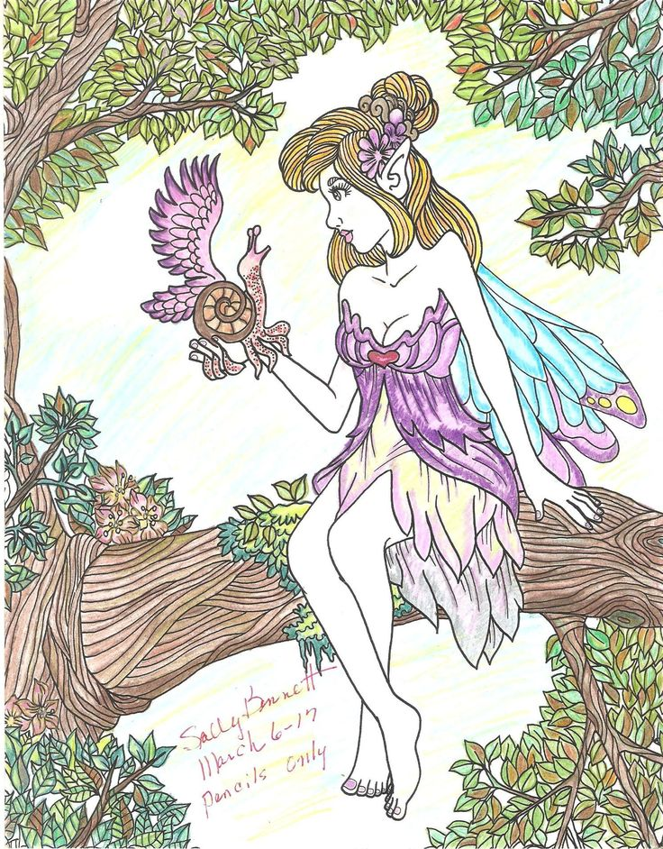 ColorIt Mythical & Fantasy Colorist: Sally Bennett #adultcoloring #coloringforadults #adultcoloringpages #mythical #fantasy