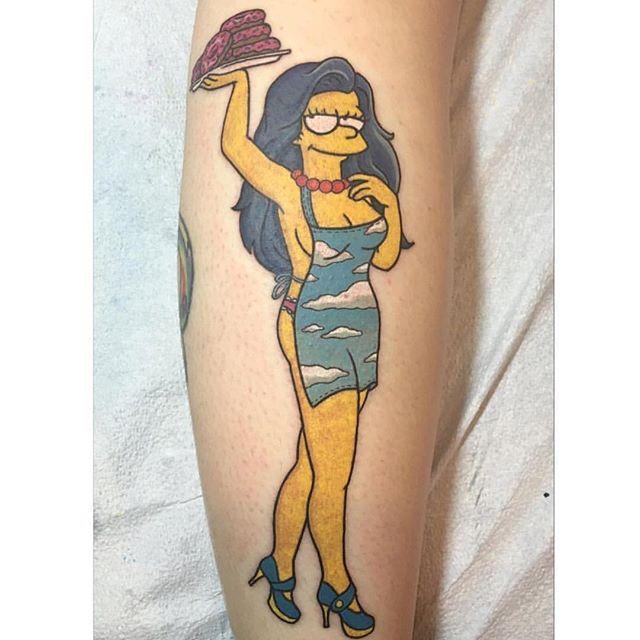 @briannanicholstattoo Marge Bouvier: Donut delivery. --------------------------------------------- #thesimpsonstattoo #thesimpsons #simpsonstattoo #simpsons #tattoo #moe #inked #tat #tattyslip #simpsonsfan #homer #bart #lisa #maggie #marge #mattgroening #futurama #cartoontattoo #cartoontats #epictattoo #simpsonstat